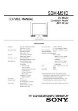 Buy Sony SDM-M51D Service Manual by download Mauritron #333064