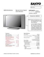 Buy Sanyo SM780104 Television Service Manual by download Mauritron #322199