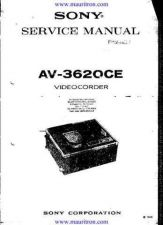 Buy Sony AV3620CE Mauritron Manual by download Mauritron #315148