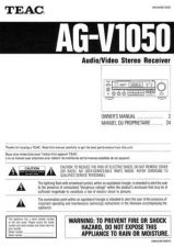 Buy Teac AGV1050EF Operating Guide by download Mauritron #318318