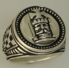 Buy Kings Chess piece Mens Signet ring Sterling Silver