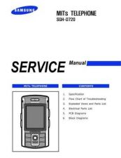 Buy Samsung SGH-D720 Mobile Phone Service Manual by download Mauritron #306307