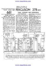 Buy FERGUSON. 378AC. Vintage Wireless. Service Sheets. by download Mauritron #319195