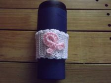 Buy Breast Cancer awareness coffee cozy