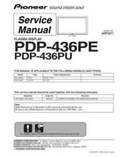 Buy Pioneer PDP-435 Service Manual by download Mauritron #332729