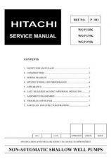 Buy Hitachi WSP-125K(175K)WSP-275K Service Manual by download Mauritron #287449