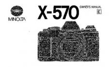 Buy Minolta x 570 manual Camera Operating Guide by download Mauritron #320965