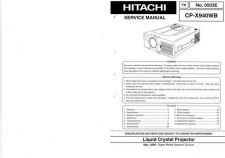 Buy Hitachi CPX940WB Service Manual by download Mauritron #284916