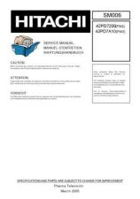 Buy Hitachi 42PD7800 Service Manual by download Mauritron #287964