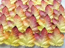 Buy 50 MULBERRY PAPER MAPLE LEAF FLOWER CRAFT ARTIFICIAL WEDDING 3TONES W 4.5 CM.