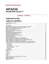 Buy Hitachi 61HDX98B Service Manual by download Mauritron #288480