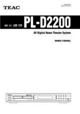 Buy Teac PL-D2200EFI-B Operating Guide by download Mauritron #319170