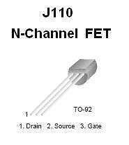 Buy Transistor - J110 N-FET (TO-92) - 6 Pieces
