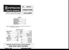 Buy Hitachi CT1937T Service Manual by download Mauritron #289461