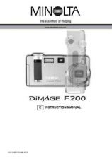 Buy Minolta D F200 E Camera Operating Guide by download Mauritron #320879