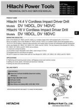 Buy Hitachi DV14DCL Tool Service Manual by download Mauritron #319898