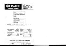 Buy Hitachi CT1329-2 Service Manual by download Mauritron #289380