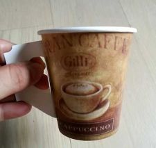 Buy 200 pcs disposible coffee paper cup hot Cappucino 5 OZ 148 ML
