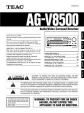 Buy Teac AGV85005L Operating Guide by download Mauritron #318324