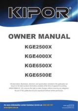 Buy Kipor KGE6400E Operating Guide by download Mauritron #332088