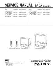 Buy Sony KP-41S4 Service Manual by download Mauritron #332963