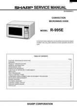 Buy SHARP. R995E Service Manual by download Mauritron #329935