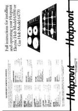 Buy Hotpoint HB64770 Operating Guide by download Mauritron #312042