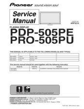 Buy Panasonic PDP-505PG-TLDPFR[2] Manual by download Mauritron #301151