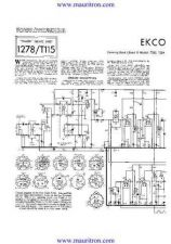 Buy EKCO. T283 Vol 2. Equipment. Service Information. by download Mauritron #327430