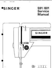 Buy Singer 591 601 Sewing Machine Service Manual by download Mauritron #321481