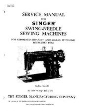Buy Singer 306W25 Sewing Machine Service Manual by download Mauritron #321411
