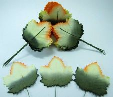 Buy 50 MULBERRY PAPER MAPLE LEAVES WIRE STEM CRAFT CARD EMBELLISHMENT WEDDING PARTY