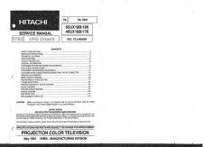 Buy Hitachi 50UX18B Service Manual by download Mauritron #288162