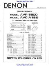 Buy DENON AVCA1SE Amplifier Service Manual by download Mauritron #326443