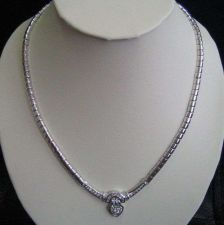 Buy NECKLACE & EARRING SET BEAUTIFUL WEDDING BRIDAL WHITE JEWEL PLATINUM PLATE THAI