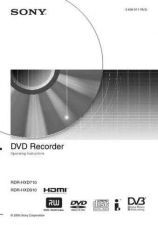 Buy Sony RDRHXD710 Operating Guide by download Mauritron #327959