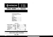 Buy Hitachi CT1302-1 Service Manual by download Mauritron #284939