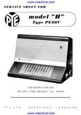 Buy PYE PE60V Vintage Service Information by download Mauritron #326989