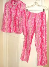 Buy Betsey Johnson Pajama Set S/P Pinks Heart Bows Drawstring Cotton Adorable S/P