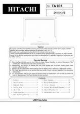 Buy Hitachi TA003 Service Manual by download Mauritron #323331