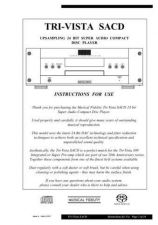 Buy Musical Fidelity TRISACD Operating Guide by download Mauritron #326925