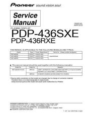 Buy Panasonic PDP-436RXE-YVIXK51[1] (2) Manual by download Mauritron #301070