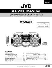 Buy JVC MX-GA77 Service Manual by download Mauritron #282812