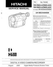Buy Hitachi VME565LA Service Manual by download Mauritron #286895