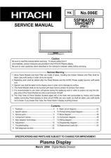 Buy Hitachi 55PMA550 Service Manual by download Mauritron #288350