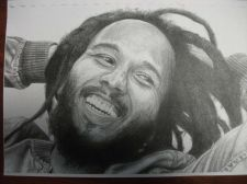 Buy Ziggy Marley exclusive Print done by hand. Bonus Free Bob Marley print unframed