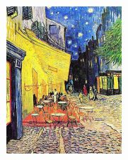 Buy Cafe terrace at night by artist Van Gogh. print painting unframed canvas