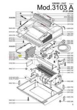 Buy Office Equipment IDEAL 3103 A CROSSCUT 2X15 SHREDDER PARTS by download #335517