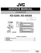 Buy JVC KD-AR200J Service Manual Circuits Schematics by download Mauritron #274829