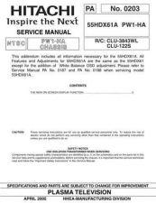 Buy Hitachi PA0203 Service Manual by download Mauritron #323299